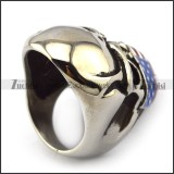 American Flag Skull Biker Small Ring r003927