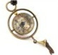 Antique Mechanical Pocket Watch in Brass with chain -pw000400