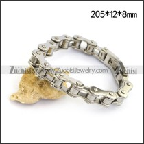 Shiny Silver Stainless Steel Bicycle Chain Bracelet b004515