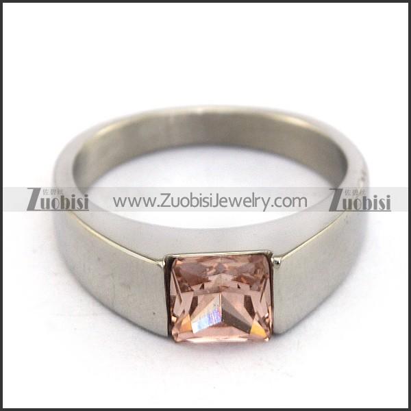 Clear Pink Zircon Wedding Ring