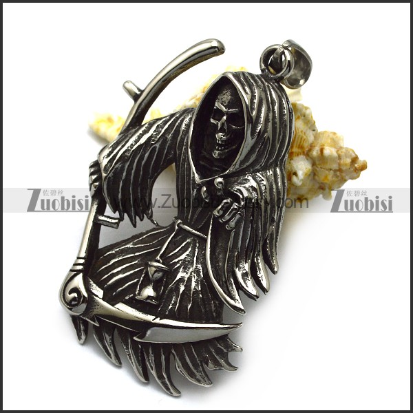blacken stainless steel skull pendants