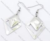 Diamond Shaped Stainless Steel earring - JE050137