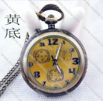 Vintage Lighting Pocket Watch with Yellow Face - PW000012-Y