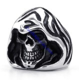Stainless Steel Wizard Skull Ring JR330083
