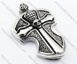 Mens' Stainless Steel Skull Cross Tag Pendant-JP330074