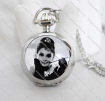 Silver Audrey Pocket Watch -PW000133