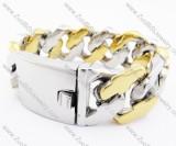 Huge Steel and Gold Tones Men Stainless Steel Bracelet - JB200144