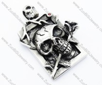 Rose Stainless Steel Skull pendant - JP300025