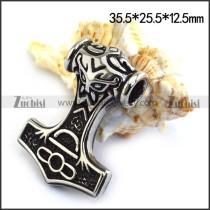 Stainless Steel Mjolnir Pendant p003472