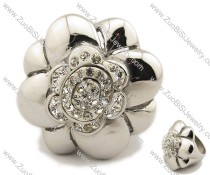 Stainless Steel  flower Ring -JR080008