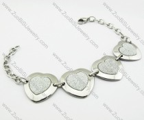 Stainless Steel Heart Bracelet -JB140035