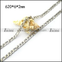 6mm Stainless Steel Figaro Chain n001580