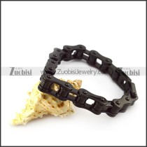12MM Wide Black Stainless Steel Bicycle Chain b005408