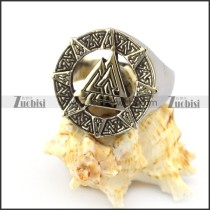 Stainless Steel Viking Ring r004827