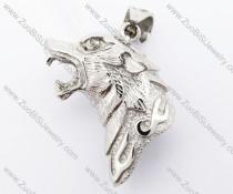 Stainless Steel Wolf Pendant - JP420039