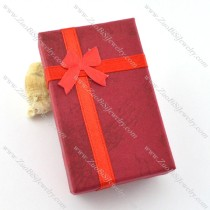 dark red paper jewelry box for pendant pa0009
