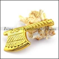 Axe Pendant in Gold Tone p003379