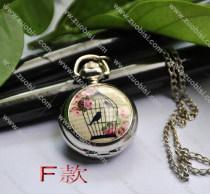 Fashion Rhidoum Bird Pocket Watch Chain - PW000049-6