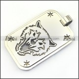 Stainless Steel Wolf Pendant p003243