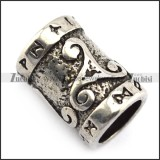 Retro Stainless Steel Beard Ring for Viking a000359