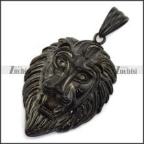Black Large Lion King Pendant p004233