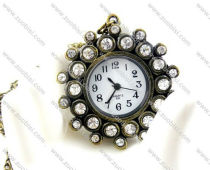 Sun Shaped Pocket Watch with Rhinestones -PW000285