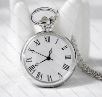 Fashion Silver Plated Peacock Pocket Watch for Office Ladies - PW000033