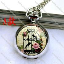 Fashion Rhidoum Bird Pocket Watch Chain - PW000049-1