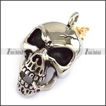 Large Smoking Devil Skull Pendant p004312