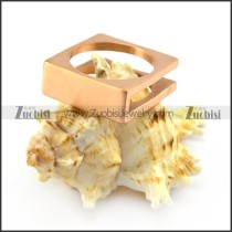 rose gold square stainless steel blank signet ring r004708