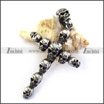 Skulls Cross Pendant p003483