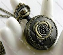 Vintage Rose Flower Pocket Watch -PW000312