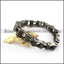 12mm Gun Metal Steel Bike Chain Bracelet b005579