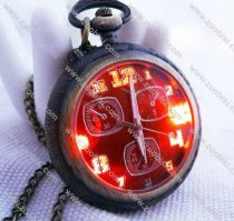 Vintage Lighting Pocket Watch with Color Face - PW000012