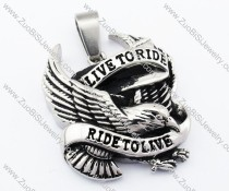 Live to Ride Eagle Stainless Steel Pendant -JP330046