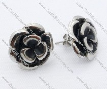 Monthly Rose Stainless Steel earring - JE050028
