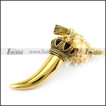 Vintage Gold Stainless Steel Horn p005536