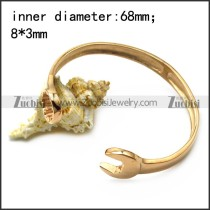 rose gold tone stainless steel spanner bangle b007005