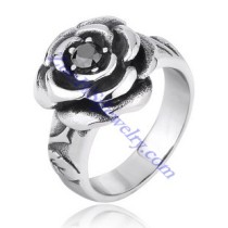 black zircon rose ring JR350091