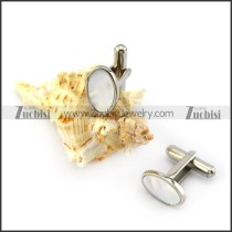Stainless Steel Shell Cufflink for Gentlemen c000158