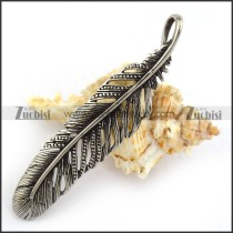 Stainless Steel Lucky Feather Pendant p003877