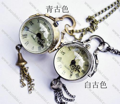 silver or bronze diameter of 2.7cm eyeball Pocket Watch -PW000271