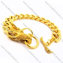 Yellow Gold Plating Stainless Steel Dragon Bracelet -JB170104