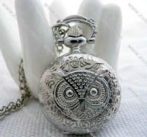 Silver Owl Pocket Watch Chain-PW000214
