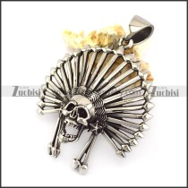 3D Hollow Skull Pendant p006141