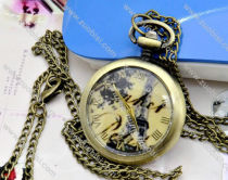 Antique Pocket Watch with lobster clasp -PW000290