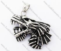 Stainless Steel fierce and cruel Wolf Pendant - JP420042