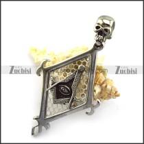 Big Masonic Pendant with Skull Clasp p005059