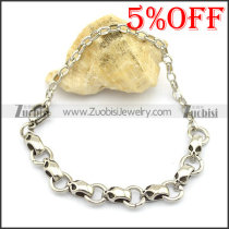 7 Small Skull Bracelet with Lobster Clasp b003470