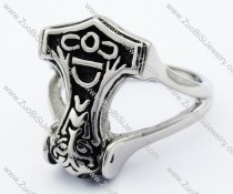 Stainless Steel Hammer Ring -JR330008